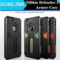 Original Nillkin Defender 2 Neo Híbrido Tough Armor Slim Case TPU + PC Capa para iPhone 7 6 6s Mais Samsung Galaxy Nota 5 S7 Edge S6 Edge Plus