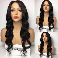 Wholesale Swiss Color - Lace Front Wigs 130-180% Density Swiss Lace Hand Tied Natural Color Loose Wave Full Lace Wigs Brazilian Hair