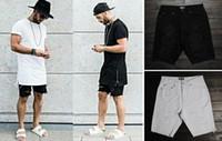 Wholesale Destroyed Jeans Shorts - Wholesale-hip hop clothing for big men 30-40 mens designer urban star skinny destroyed Black white jeans mens ripped denim shorts