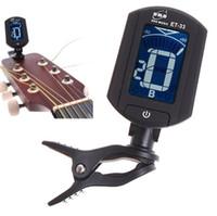 instruments de musique de violon achat en gros de-Vente chaude LCD Digital Bass Violon Ukulele Guitar Tuner pièces de guitare instruments de musique accessoires