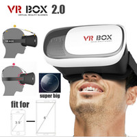 Wholesale 3d Video Headsets - VR BOX 2.0 Google Cardboard Virtual Reality Headset 3D Glasses IMAX Video Movies Game Glasses For 3.5-6 Inch Smartphone + Bluetooth Gamepad