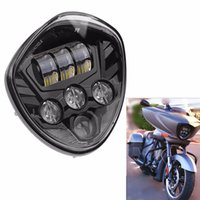 Wholesale Victory Cross - Fit VICTORY CROSS CRUISER 07-16 Motorcycle Chrome   Black LED Headlight Light Head Bulbs ( Fits : Victory)