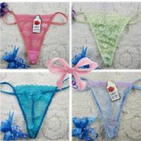 Wholesale Good Quality Wholesale Panties - cheap sexy women's panty thongs multicolor lace g-string yarn t-shaped panties lowest price briefs good quality