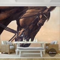 mural de caballo negro papel pintado de la foto papel pintado d sala de estar sof de la tv papel pintado del teln de fondo dormitorio caf