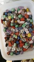 Wholesale stones for decorations resale online - 200g assorted tumbled gemstone mixed stones natural rainbow amethyst aventurine colorful rock mineral agate for chakra healing reiki