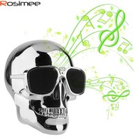 Wholesale Bluedio Nfc - Wholesale- Hot Sale SKULL Wireless Bluetooth Speaker Sunglass NFC Skull Speaker Mobile Subwoofer Loudspeaker VS Piple S5 Bluedio BS-3 JK316