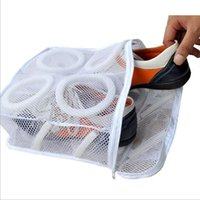 Wholesale Laundry Net Fabric - Shoes Washing Bags Net Wash Washing Cleaner Boot Utility Sneaker Sports Laundry Shoes Hanging Bag Storage Organizer Bags OOA2702