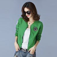 Wholesale Wholesale Clothing Designer Jackets - Wholesale- 7 Color Designer Army Green Sun Protection Clothing 2016 Spring Summer Kimono Ladies Sunscreen Uv Outerwear Women Bomber Jacket