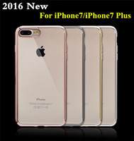 Wholesale iphone 6plus cases for sale – best High Quality iPhone TPU Case Ultra Thin Clear Crystal Rubber Plating Electroplating TPU Mobile Phone Case For iPhone7 iPhone5 plus