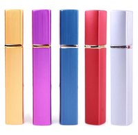 Wholesale Spray Atomiser - 12ML Aluminum spray bottles perfume atomizer Cosmetic Containers atomizer Travel Refillable Mini Atomiser Spray Colorful 7 Colors