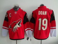 Wholesale Xxl Name Brand Shirts - Coyotes #19 Shane Doan Red Hockey Jersey Cheap Men's Hockey Shirts Brand Athletic Outdoor Apparel Sports Uniforms Stitched Name and Number