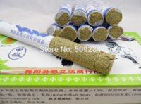 Wholesale Moxa Rolls - China Brand Five Years Moxa Roll Moxibustion Stick Pure Mugwort for Healthy Warm The Meridians Relieving Pain 10pcs box