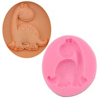 Wholesale Dinosaur Chocolate Moulds - 200pcs FDA Dinosaur Shape Fondant Silicone Mold For Jelly Chocolate Soap Decorating Food Grade DIY Bakeware Tools ZA0658