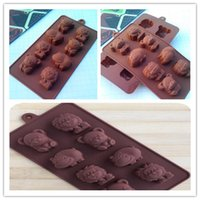 Wholesale Lion Mold - Hippo Lion Bear Shape Silicone Mold, Jelly, Chocolate, Soap ,Cake Decorating DIY Kitchenware ,Bakeware