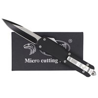 Wholesale Micro Troodon A07 Models optional Single Edge Hunting Folding Pocket Knife Survival Knife Xmas gift for Men