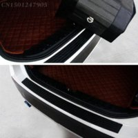Wholesale Car Body Protective Film - Car Rear Bumper Plate Door Sill Scuff Protective Sill Cover For Citroen Grand C4 Picasso C4 Aircross C Elysee DS3 C5 C3