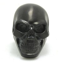 Wholesale Skull Polish - 5pcs lot size 7-15 Black Dull Polish Huge Skull Ring 316L Stainless Steel Fashion Jewelry Cool Black Skull Ring
