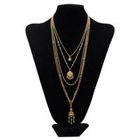 uzun koliler toptan satış-Moda Katmanlama Kolye Seti Kadınlar Çok katmanlı Kolye Altın Uzun Ince Zincir Minimal Altın Narin Boho Takı Collier Doldurun