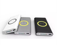 Wholesale Power Plate Charger - Wireless Charger Power Bank 8000mAh Portable Emergency Battery Fast Charger Plate Dock For iphone X 8 7 6s Samsung S6 S7 S8 Note 8