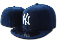 Snapbacks order field - New Hats Fitted Caps Baseball on Field Hat Navy Blue Color New York NY All Size Mix Match Order All Caps High Quality Hat