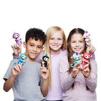 Wholesale Keychain Wholesale Monkey - NEW 13cm Pre-sale Fingerlings Keychain Electronic Pet Monkey 6 Colors Cartoon Key Rings Gifts for Kids  Fidget Toys