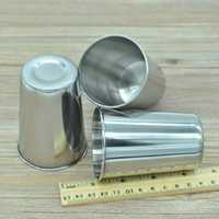 Wholesale Gargle Cup - New Drinkware cup Stainless steel cup water bottle beer cup gargle cup toothbrush cup Hip Flasks 45g