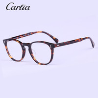 Famosa marca Oliver Eyeglasses OV5298U gregory peck Oval Vintage Myopia Glasses Frame Men 46mm Retro Peoples Eye lábios com caixa
