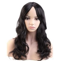 "Wholesale Red Black Long Wigs - 19"" 48cm Party Cosplay Wig Women Long Curly Black Brown Blonde Pink Purple Red Synthetic Heat Resistant"