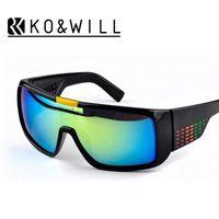 Wholesale Big Domo - KOWILL Men's Sunglasses Brand Designer Oculos de Sol big frame face domo Men Sports Coating Eyewear Gafas De Sol Masculino B2030