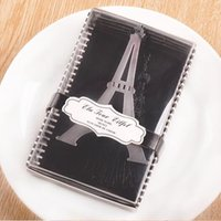 Wholesale Wedding Stationary Wholesale - DHL Free 100pcs Stainless Steel Eiffel Tower Bookmarks stationary bookmark Wedding Favors Baby Shower gifts