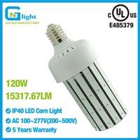 Wholesale Replace Car Light Bulb - 120W LED Corn Cob Bulb Light Replace 400 Watt Metal Halide High Bay Car Wash Church E39 Mogul Base Lamp 6000K