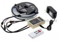 Wholesale Led Strip Program Controller - 6803 IC Magic Dream Color RGB LED Strip 5050 30LED m Chasing Lights + 133 Program RF Magic Controller + Power Adapter MYY