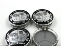 Wholesale 4pcs MM For Be n z AMG AFFLTERBACH GLS GLC GLA GL GLK ML Auto Wheel Cover Car Wheel Emblem Label Car Wheel Hub Cap