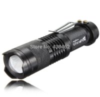 Wholesale Flashlight Torch Small - UltraFire CREE XML T6 LED 2000Lm Zoomable 18650 Mini Flashlight Torch Light Small flashlight flashlight black light