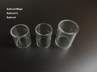 Clear Kanger Subvod C Replacement Pyrex Glass Tube ECIG Atomizer Subvod Mega Glass Tube Replacement Sleeve E Cigarette
