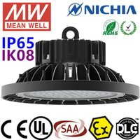 Wholesale LED High Bay Light Industrial Lighting W UFO Round Shape Nichia LED Chip MeanWell Driver UL CUL CB SAA