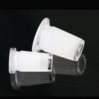Wholesale Water Pipe Adaptor - Bong downpipe reducing adaptor 18.8mm female joint inline 14.5mm for glass water pipe glass bong female jiont