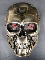 Wholesale Ghost Paintball Mask - Horror COS Terminator Helmet Mask CS Paintball Ghost Creepy Resin Masks Props Halloween Masquerade Party Cosplay Prop