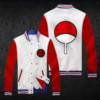 Wholesale Naruto Uchiha Itachi Coat Cosplay - Wholesale-Naruto Hoodie Fashion Men Baseball Coat Anime Hatake Kakashi Cosplay Jacket Uchiha Itachi Costume Uchiha Sasuke Warm Sweatshirt