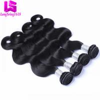 Wholesale Body Wave Hair Pieces - Brazilian Virgin Hair Body Wave Unprocessed Peruvian Indian Malaysian Human Hair Weaves Wholesale Brazilian Hair Bundles 3 4 Pieces Lot