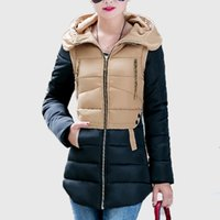 Wholesale Elegant Winter Clothing For Women - Wholesale-New 2016 women parkas for winter jacket women Warm casual winter-clothing parka Female Long Elegant Outwear coat women clothing