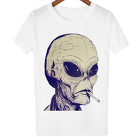 Smoking alien T shirt 18 street short sleeve Tee Free shipping girl clothing Tshirt in cotone donna