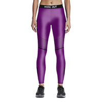 Wholesale work out clothing for women for sale - Push up Leggings Fashion Purple Color Elastic Fitness Leggings Work Out High Waist Clothing For Women Plus Size Calz