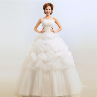 Wholesale Korean Models Bra - Foreign trade dress Korean version of the new 2016 wedding dress Korean Bra princess bride wedding dress was thin big yards