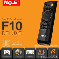 Wholesale Mele Android Tv Box - 1PCS Original MeLE F10 Deluxe Fly Air Mouse Mini Wireless Keyboard Remote Control 2.4GHz Gyro IR Learning for Android TV Box PC MAC