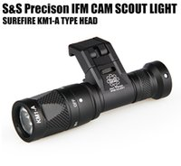 Wholesale Hard Anodizing - Tactical IFM CAM Scout Light Gun light Hard Anodizing Aluminum QD CREE LED Dual-Output Flashlight Black