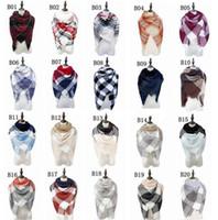 écharpes automne hiver châles achat en gros de-Vente en gros - écharpes d'automne et d'hiver nouvelle simulation de préservation de la chaleur châle de cachemire écharpes carrés colorés 4156