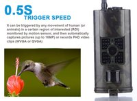 Wholesale Gprs 3g Camera - HC-X 16MP Trail Hunting Camera game Working at low or high temperatures mount 3G GPRS SMS Night Vision Wildlife tracing camera AT