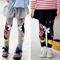 Wholesale Children Warm Pants - Baby Girls Leggings 2016 New spring Children Leggings Girls Pants Warm Character Kids Pantskirt Baby Girls Dress Leggings