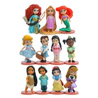 Wholesale Wholesale Mermaid Dolls - 11 models action figures Mermaid Princess Snow White Belo Cinderella Aurora Jasmine Girl Dolls decorations handmade toy new baby birt